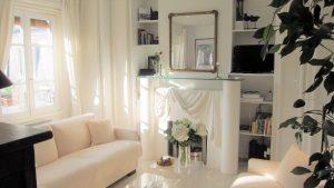 Wohnzimmer Ferienwohnung Paris-Poncelet